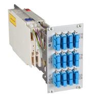 Moduleinschub 14TE, bestückt, 12xSCD+24xSC/UPC Pigtails