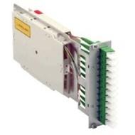 Moduleinschub 6 x LC dpx grün, 12xLC/APC OS2,3HE/7TE bestückt