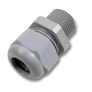 Kabelverschraubung PG-16 PA6, inkl. Gegenmutter grau RAL7035