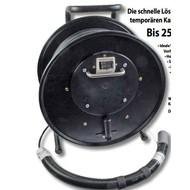 Kabeltrommel mit 2xLC(D) Kupp. bis 250m Kabel