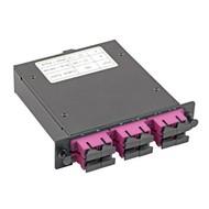 MTP/MPO-Kassette LowLoss OM3 1 MTP/MPO, 6x SC duplex aqua