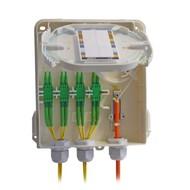 Hausanschlussbox (APL) für FTTx, max. 8 SC-S/LC-D, mit Schloß