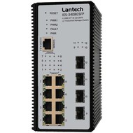 Switch 8x RJ45 10/100Mbit/s + 4x SFP Gigabit Ports