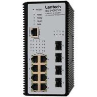 Hutschienen-Switch -20°~+60°C 16x10/100TX + 4 Dual Speed SFP L2+