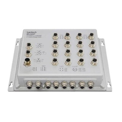 2 1000T + 22 10/100TX PTP L2+ Managed Industrial  M12 IP67 Switch; -40°C to 75°C; 9.5~56VDC