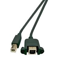 USB B Stecker / B Einbaubuchse 0,5m, High Speed USB2.0