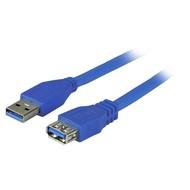 USB3.0 Verlängerungskabel A-A St-Bu 5,0m blau, Premium