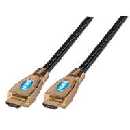 HighSpeed HDMI™ Kabel w.Eth. Metallh A-A St-St 1,0m schwarz
