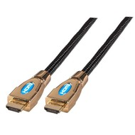 HighSpeed HDMI™ Kabel w.Eth. Metallh A-A St-St 5,0m schwarz