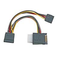 SATA StromKabel SATA 15P PCB +4 Pin Buchse / 2x SATA 15P