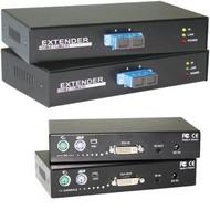 KVM Fiber Extender DVI-PS/2, bis 1000m, SC-Duplex MM, HDTV