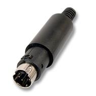 Mini-DIN-Stecker 6-polig ED-DIO-M/06 m. Zugentlastung