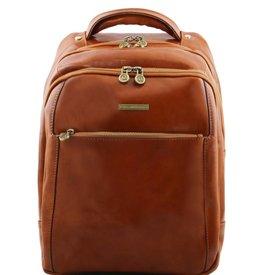 Tuscany Leather TL PHUKET 3 Compartments leather laptop backpack Honey