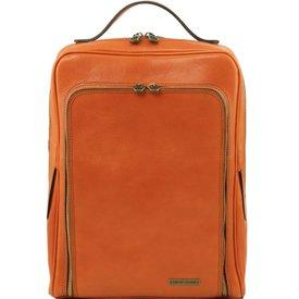 Tuscany Leather TL BANGKOK Leather laptop backpack Honey