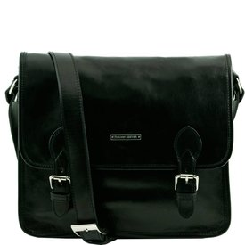 Tuscany Leather TL POSTMAN Leather messenger bag Black