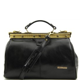 Tuscany Leather TL MICHELANGELO Doctor gladstone leather bag Black