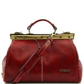 Tuscany Leather TL MICHELANGELO Doctor gladstone leather bag Red