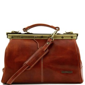 Tuscany Leather TL MICHELANGELO Doctor gladstone leather bag Honey
