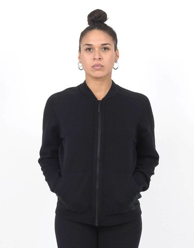 Nike Womens NSW Tech Knit Bomber Jacket black