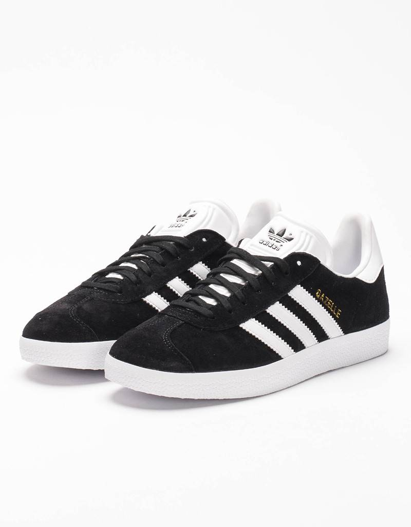 adidas Gazelle black/white/gold