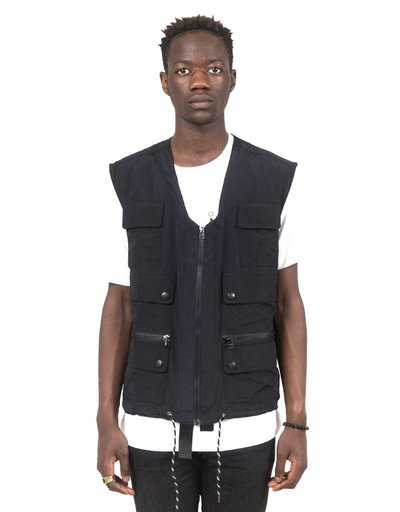 Olaf Hussein Vest Ripstop Fishing black