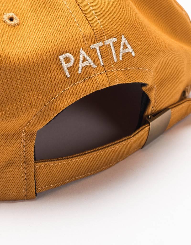 Patta P Cotton Twill Cap Golden Brown