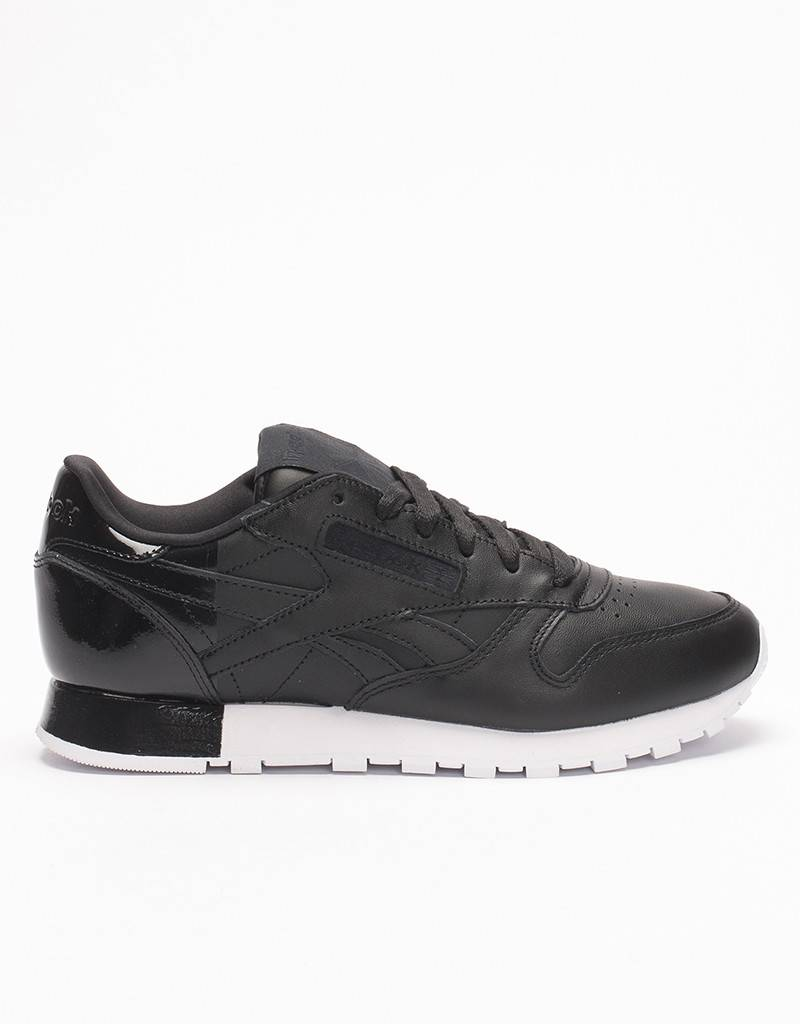 Reebok Womens CL Leather Matte Shine Black