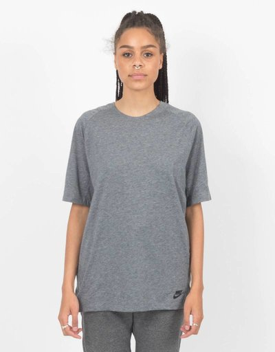 Nike NSW Bonded T-Shirt Knit carbon heather/black