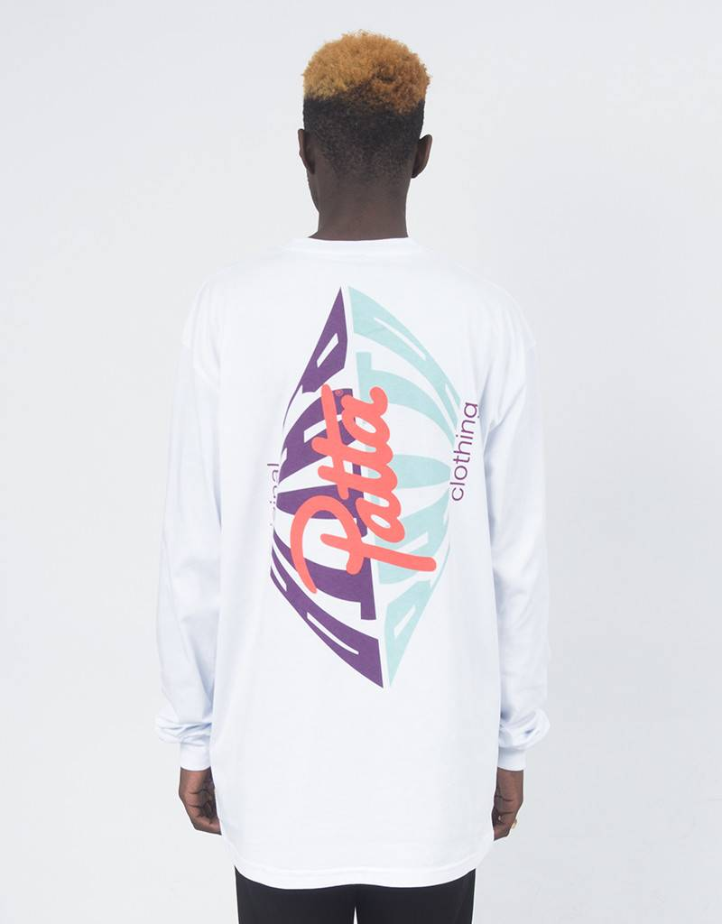 Patta Perspective Longsleeve T-shirt white