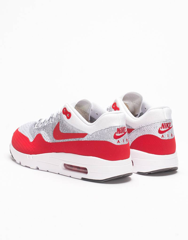 Nike Air Max 1 Ultra Flyknit White/University Red