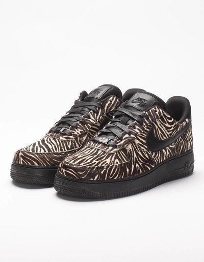 Nike womens air force 1 '07 LX black/wite/zebra