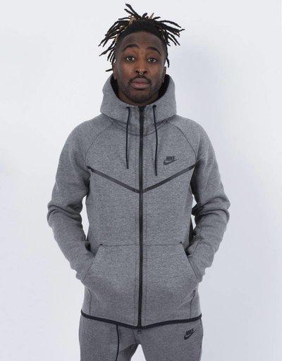 Nike tech fleece windrunner hoodie heather black