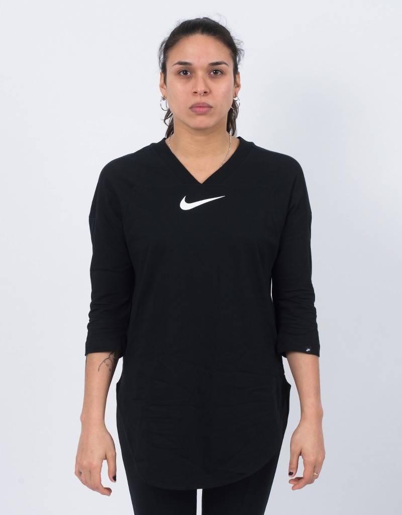 Nike womens long top black