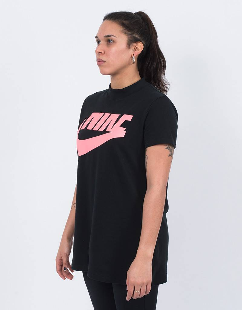 Nike women's top black/bright melon