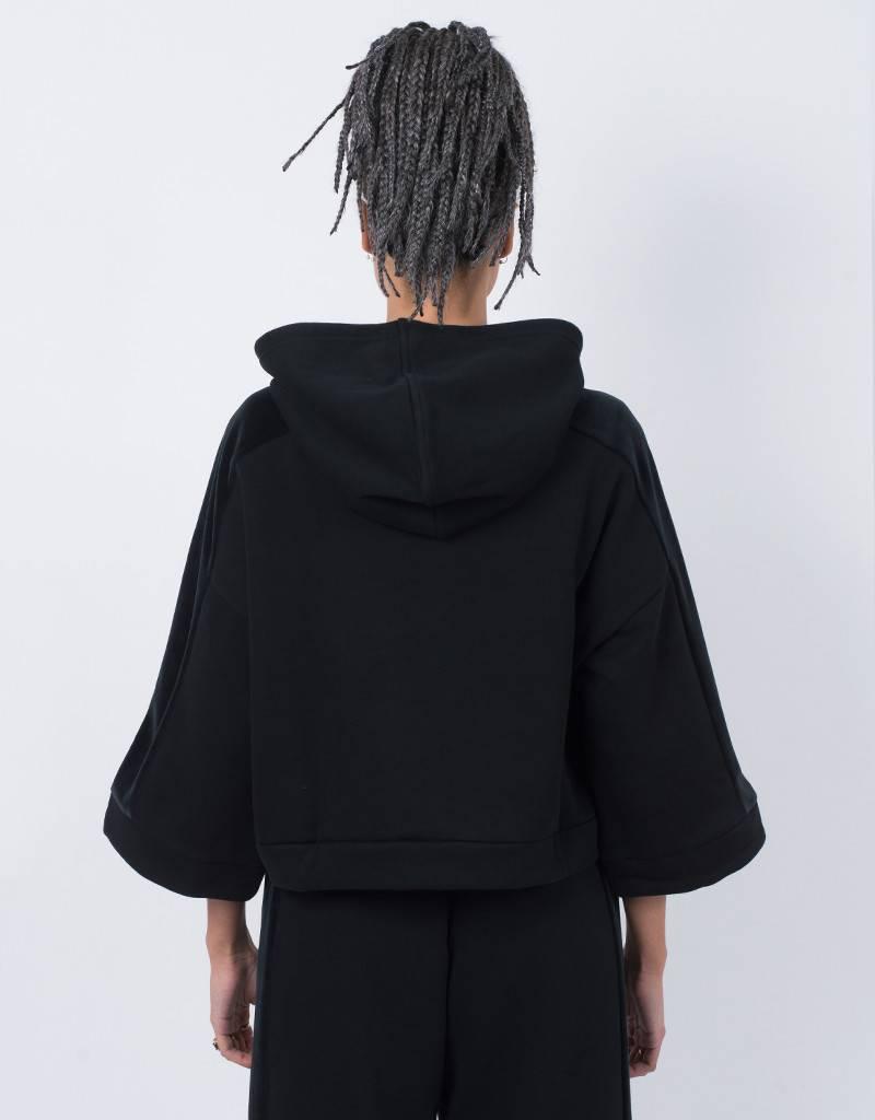 Puma Womens Xtreme Cropped Hoodie Black