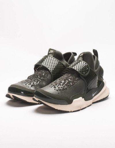 NikeLab x Stone Island Sock Dart Mid Sequoia/Light Orewood Brown