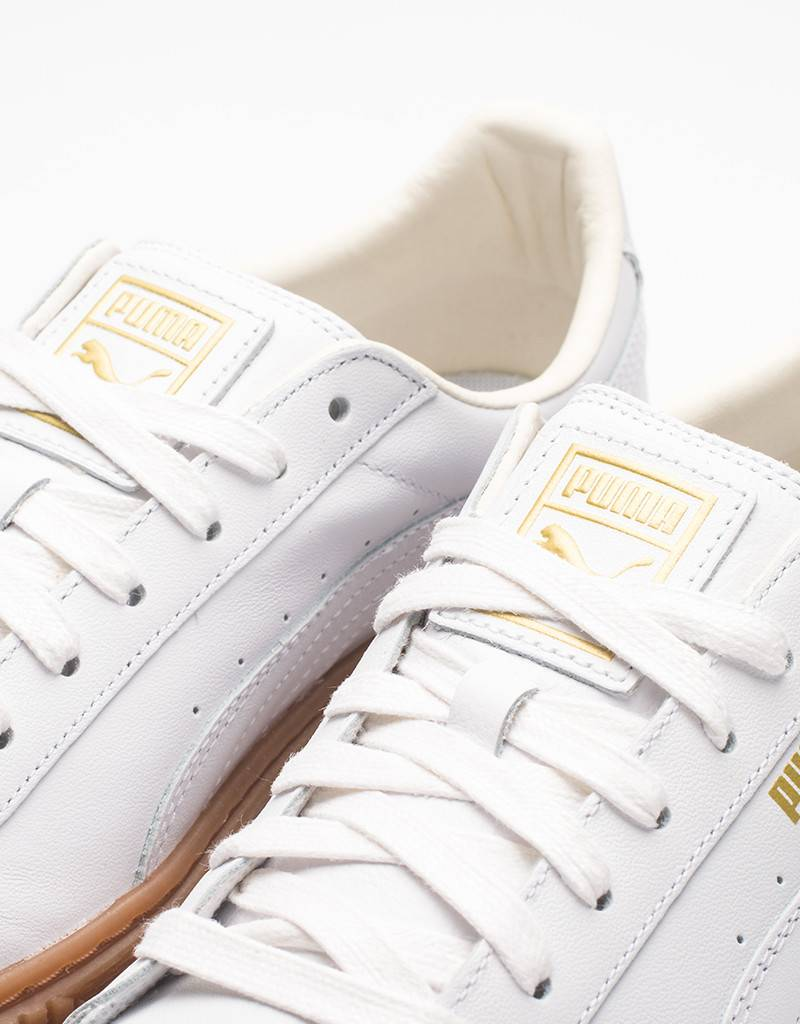 Puma women's basket platform core puma white/puma white