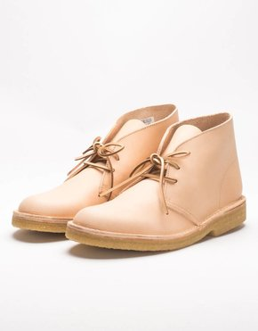 Clarks desert boot natural tan leather