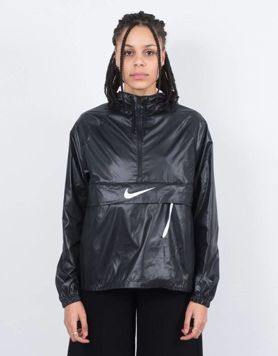 Nike womens jacket packable black/white