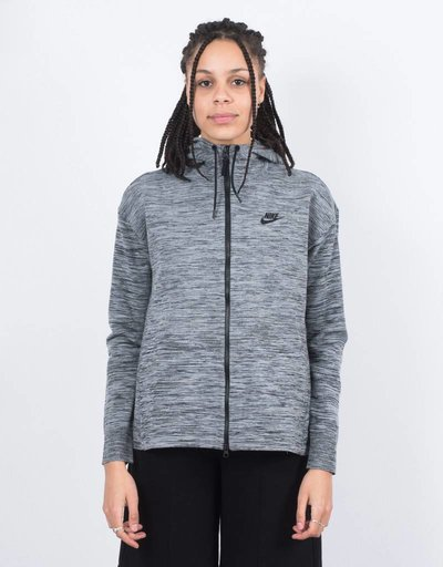Nike Womens NSW Tech Knit Jacket HD Carbon Heather