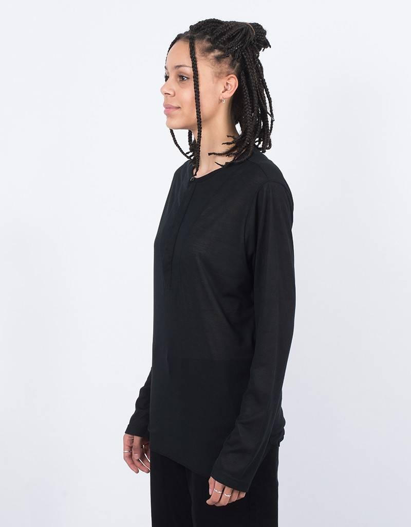 Stampd Edge Henley Longsleeve T-shirt Black