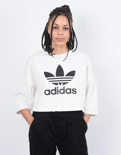 adidas Womens T-Shirt Crop white