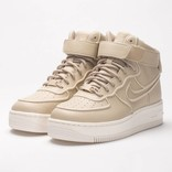 Nike Womens Air Force 1 Upstep Hi SI Oatmeal/Oatmeal-Ivory-Metallic Silver