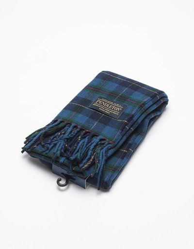 Pendleton Muffler Scarf navy windowpane