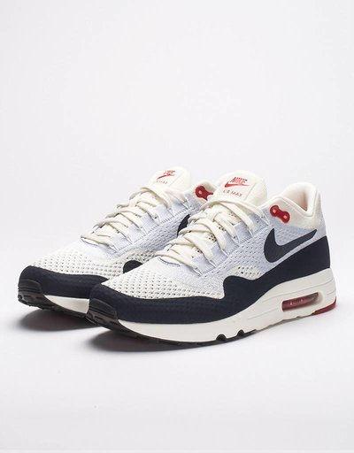 Nike Air Max 1 Ultra 2.0 Flyknit Sail/Obsidian-Wolf Grey-University Red