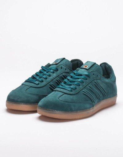 adidas Consortium Womens Samba Deep Hue Core Green/Easy Green
