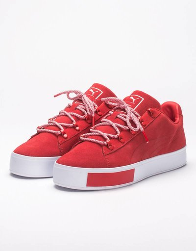 Puma x Daily Paper Court Platform S High Risk Red