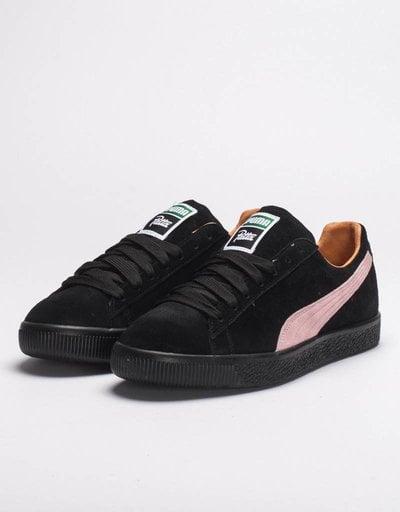 Puma x Patta Clyde II black prism pink/black