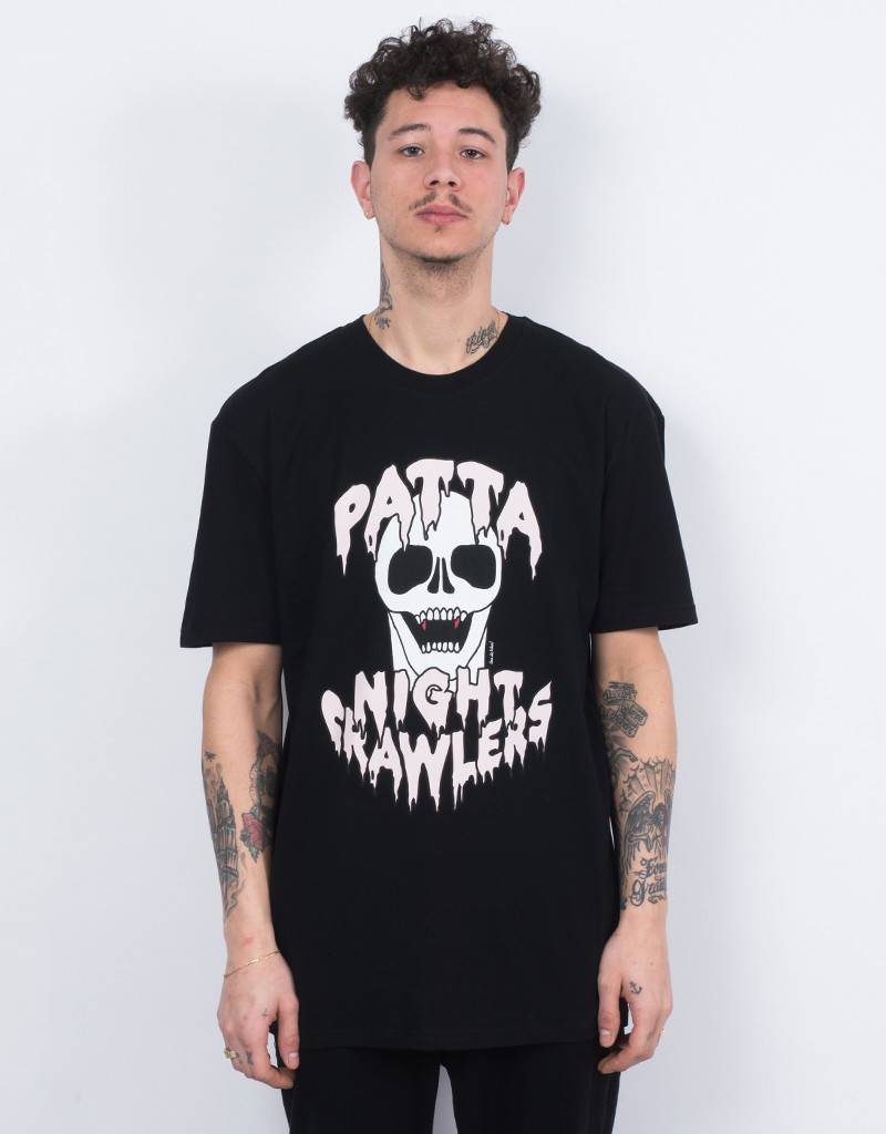 Patta Crawlers T-shirt Black/Pale Dogwood