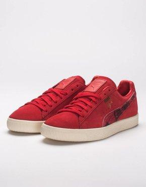 Puma Puma clyde x packer red/whisper white